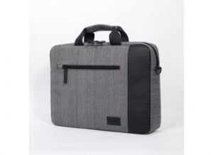 """15.6"""" Laptop bag stylish soft Gray and Brown Line"""